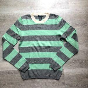 Theory cashmere striped sweater size M